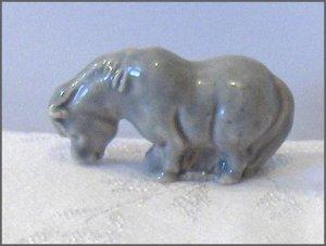 Wade Porcelain Soft Gray Color Pony  Figurine