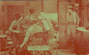 Vintage Western Postcard Buffalo Bill Jr. in Roarin Broncs  Pathe Western