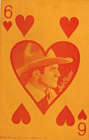 Vintage Western Arcade Card Bob Custer