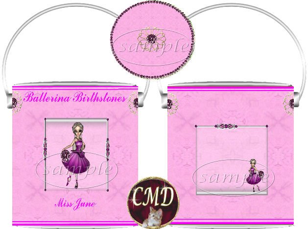 Ballerina Birthstone Gift Can - template - JUNE