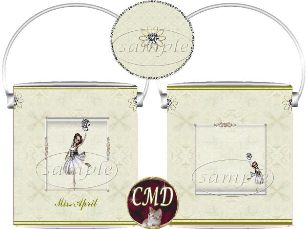 Ballerina Birthstone Gift Can - template - APRIL