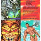 1995 FLAIR MARVEL PROMO SHEET,SPIDERMAN,SABRETOOTH,STORM..