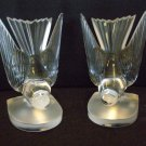 "Lalique France ""Hirondelles"" Crystal Bookends ~ PAIR ~ Exquisite"