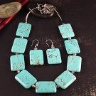 Turquoise and swarosky crystals