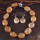 Citrine and fresh water pearls