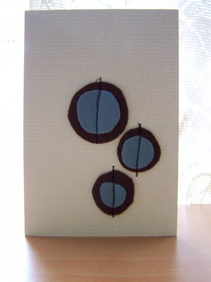 Blue and Brown Felt Circles Card