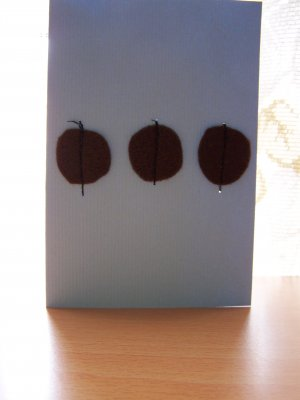 Brown Felt Circles Card