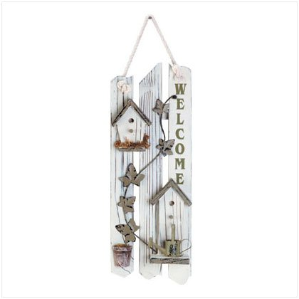 Shabby Chic Wood Welcome Sign