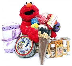 The Musical Elmo Baby Gift Basket Deluxe