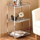 Zebra Print 3 Shelf Glass & Metal Storage Unit for Bathroom Kitchen Bedroom