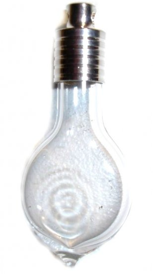 25 flat teardrop hand-blown glass pendant vials GOLD CAPS/FLAKES!
