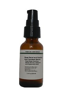 Rose Petal, Comfrey, Nettle, Allantoin, Hyaluronic Acid  for Anti Oxidant Serum