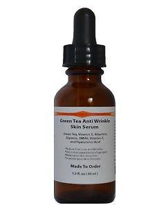 Green Tea Anti Wrinkle Skin Serum w/ DMAE,Vit.C,E, Allantoin, Glycerin and HA