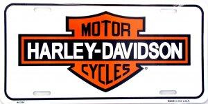 HARLEY DAVIDSON MOTORCYCLES VINTAGE WHITE LICENSE PLATES