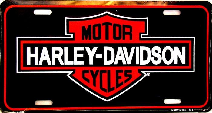 HARLEY DAVIDSON MOTORCYCLES VINTAGE BLACK LICENSE PLATES