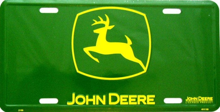 JOHN DEERE GREEN LOGO LICENSE PLATES