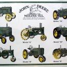 JOHN DEERE VINTAGE TRACTORS HISTORY SIGNS