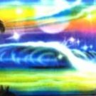 AIR BRUSHED OCEAN WAVE AND PALM TREES LICENSE PLATES