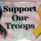 AIR BRUSHED SUPPORT OUR TROOPS LICENSE PLATES