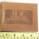 JOHN DEERE BROWN LEATHER WALLET, JDC FINANCING PROFESSIONALS