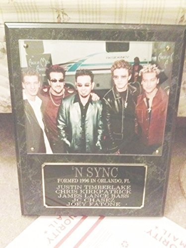 'NSYNC Band Wall Plaque Authentic 90's Music Memorabilia