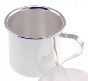 Silver Plated Straight Side Baby Cup