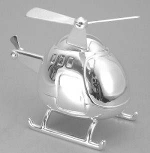 Silver Plated Helicopter Bank