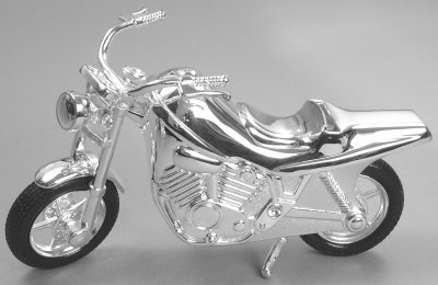 Silver Plated Motorcycle Bank