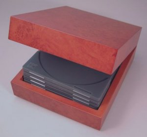 Burl Wooden Hinged CD Box
