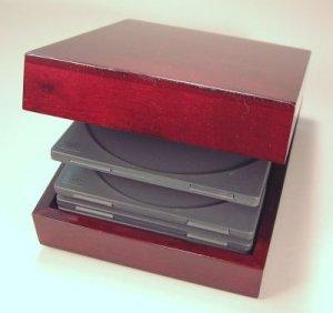 Wooden Hinged CD Box