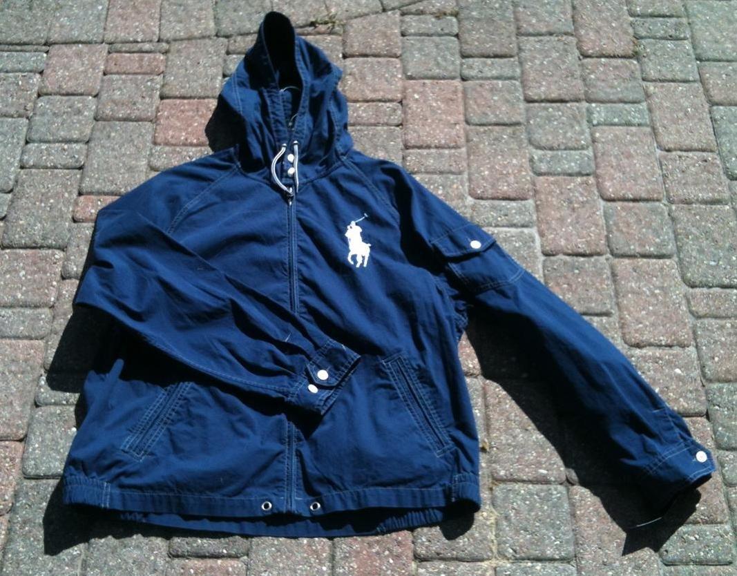 Ralph Blue Waimea Windbreaker Navy Polo Big Jacket Lauren Pony Hood N8mn0w