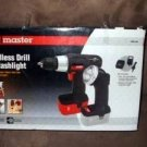Cordless rechargable 18 Volt 18v Drill, Flashlight Variable speed drill