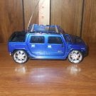 Blue Hummer H2 Truck VERY SMALL RC Vehicle NO REMOTE NO CHARGER