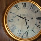 "Huge clock made 24"" across with standard AA battery movement"