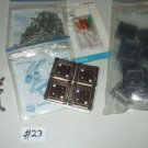 Junk ELECTRONIC DRAWER LOT connector pins assorted 10 color LEDS IC sockets sink