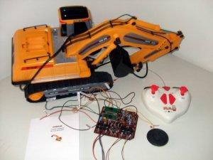 RC RADIO CONTROL model EXCAVATOR KIT excavator, remote, receiver, manual