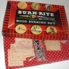 Burn Rite vintage Wood Burning Set