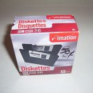"""Diskettes NEW BOX of 10  IBM Formatted 1.44 MB Double Sided Unused 3.5"""" Black"""