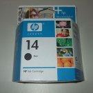 HP NEW Black Ink Cartridge C5011DN New In Box 14 ink Cartridge SEP08 sealed