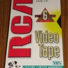 VHS (3) pack VCR Bulk Blank Tape Single Tapes with Cover 6 hours