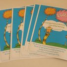 Global Warming Lorax 5 activity sheets Children DAYCARE