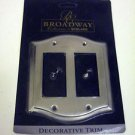 Broadway Collection Metal GFI Square Cover Decorative Trim Plate