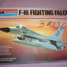 Aircraft Fighting Falcon F-16 1/48 Scale Double Monogram Plane Model Vintage Kit