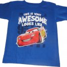 4T Disney Lightning McQueen Boys Short Sleeve Shirt Size 4T