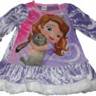 2T Disney Sofia The First Nightgown Sleepwear Dress Size 2T