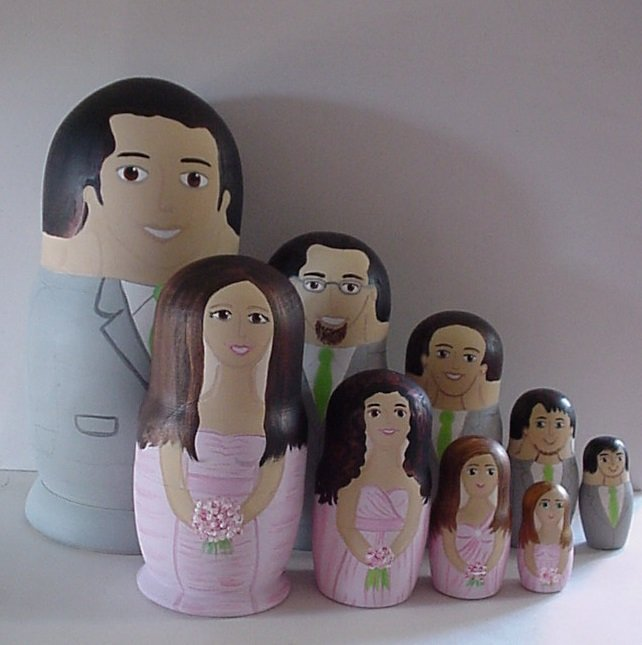 Personalized Wedding Gifts Bride Groom : Wedding Nesting Dolls Bride GroomPersonalized Gift 5pcs