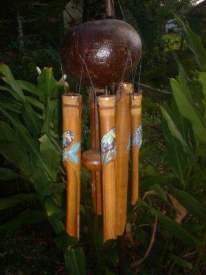 Parrot BIRD WIND CHIME Bamboo garden home gift