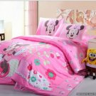 Twin Duvet Covers Comforter Sets 4Pc Super Cute Pink Minnie Mouse Bed Linens Bed Sets
