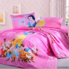 Queen Duvet Covers Comforter Sets 5Pc Beautiful Pink Snow White Bed Linens Bed Sets
