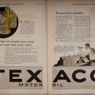 Vintage 1926 Sat EVE POST ADVERTISEMENTS TEXACO and more!